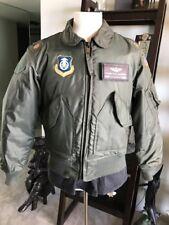 Vietnam MIL-J-83388A CWU-45/P Cold Weather Flyer's Nomex Flight Jacket Medium 💎