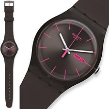 swatch new gent brown rebel suoc700 orologio nuovo uomo donna raro da collezione