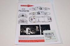 DECALS 1/43 ALPINE RENAULT A110 BERLINETTE ANDRUET RALLYE TOUR CORSE 1968 RALLY