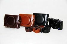 Leather  case bag For Sony DSC-RX100 Mark II III IV V VI VII M2 M3 M4 M5 M6 M7