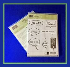 Stampin' Up! JUST SAYIN' Stamps & WORD BUBBLES Framelits Dies ***NEW***