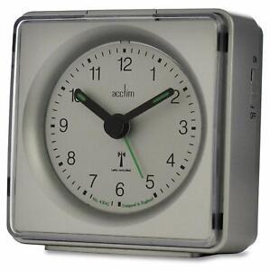 Acctim Piper Alarm Clock, Radio Controlled (Black, Blue, Silver)