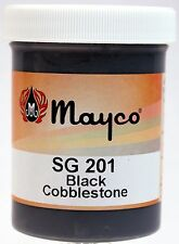 Mayco Specialty Ceramic Glaze - SG201 Black Cobblestone, 4 Ounce Jar