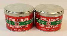 ROYAL CROWN HAIR DRESSING POMADE *2 LOT*  (5OZ)