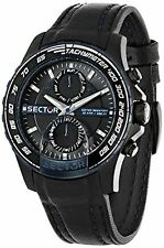 Sector Men's R3251577003 Analog Display Quartz Black Watch (FreeShip)