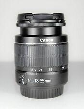 Canon EF-S 18-55mm f3.5-5.6 III Lens Black EOS DSLR