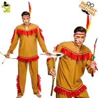 Adult Men Native Indians Costumes Carnival Party Old India Resident Cosplay