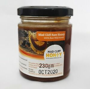 Mad Honey Pure Organic Natural Himalayan Shilajit Wild Cliff Raw Honey Jar 230gm