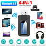 4 IN 1 Bluetooth 5.0 Transmitter Receiver Wireless Audio 3.5mm USB Aux Adapter
