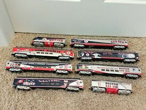 Bachmann Hawthorne Village Boston Red Sox Train 8 Pieces HO Scale Great Shape