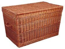Korbtruhe, braun, aufklappbar, Wäschetruhe, Kleidertruhe, Wäschebox 54x89x51cm