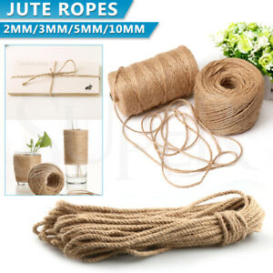 Sisal Rope Natural Jute Hemp Manila Twine String Cord 2 3 5 10mm Thick Craft DIY