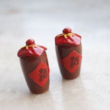 """Action Figure 2x Mini Prop Chinese Wine Bottle For 1/6 Scale Male 12""""  HT use"""