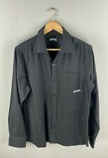 Billabong Men's Long Sleeve Shirt - Size Medium - Black Stripe