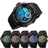 SKMEI S-shock Mens Waterproof Digital LCD Light Alarm Date Sport Army Wristwatch