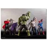 Hulk Joker Thor Superhero Comic Silk Funny Poster Wall Art Canvas Print 24x36