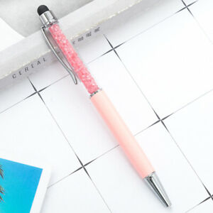 2pcs 2 in 1 Pink Crystal Stylus Touch Screen Capacitive Pen for Pad Phone Tablet
