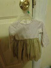 FIRST IMPRESSIONS GOLD STAR NEW YEAR'S OR ANYTIME PARTY DRESS SIZE 3-6M BABY