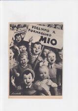 Pubblicità anni 50 RARA BOCCASILE - vogliamo il FORMAGGINO MIO locatelli
