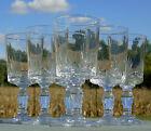 Baccarat? Service de 6 verres à vin cuit en cristal taillé. Haut. 10,1 cm