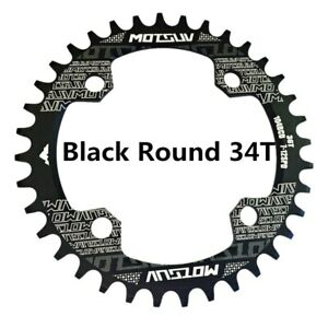 Bicycle Crank 104BCD Round Shape Narrow Wide 32T/34T/36T/38T Chain Ring New US