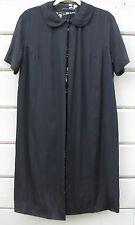 Vintage Sophie Original Saks Fifth Avenue Black S/S Dress Coat Duster Wms S M