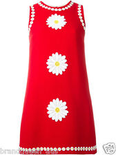 Used Authentic Dolce GABBANA Red Daisy size 40 Dress