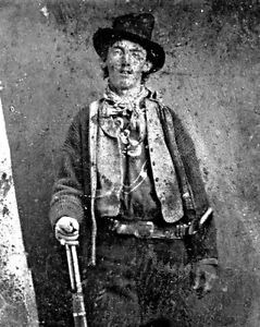 """New 11x14 Photo: William H. Bonney (McCarty), Frontier Outlaw """"Billy the Kid"""""""