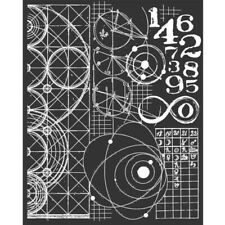 NEW Stamperia  Mixed Media Thick Stencil Astronomy and Numbers
