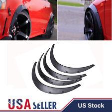 4PCS Black Universal Fender Flares Flexible Durable Polyurethane Car Body Kits