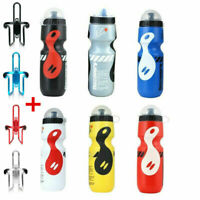 750ML Mountain Bike Bicycle Cycling Water Drink Bottle and Holder Cage AU Vogue