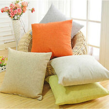 17'' Solid Vintage Cotton Pillow Case Sofa Waist Throw Cushion Cover Home Decor