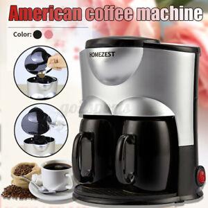 Mini Double Cup Automatic Coffee Maker Machine Espresso Latte Cappuccino