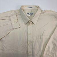 NEW Joseph & Feiss Dress Shirt Mens 20 Cream 34/35 Sleeve Pointed Collar Career
