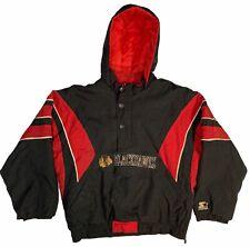 Vintage 90's Starter Chicago Blackhawks Nhl Kids Pullover Parka Jacket Youth L