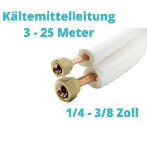 """Isolierte Kältemittelleitung für Klimaanlagen 1/4"""" + 3/8""""  9mm"""