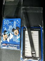 2 Disneyland Luggage Tags 60th Anniversary New Mickey Mouse Minnie Mouse