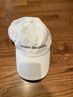 Vintage AUTHENTIC LEHMAN BROTHERS white cap. Never worn.