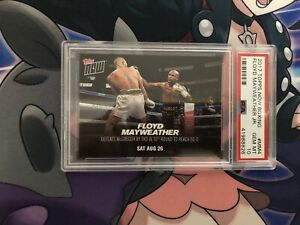 2017 TOPPS NOW BOXING #MM4 FLOYD MAYWEATHER JR. PSA 10