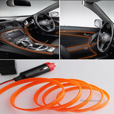 2M 12V EL Wire Orange Cold light Neon Lamp Atmosphere Unique Decor For Nissan #