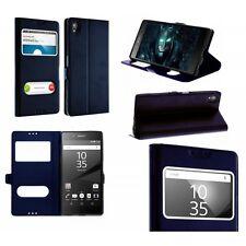 Etui Housse Coque Pochette Intérieur Silicone Bleu Foncé pour Sony Xperia XZ