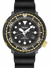 Seiko Men's Solar Diver Watch 200m Black Dial Silicone Strap SNE498