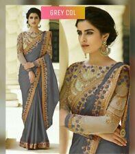 Bollywood Prachi Designer Party Wear Sari Bridal Indian Wedding Saree Blouse