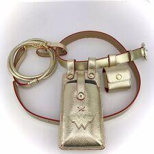 MOSHIQA Gold Leather Dog Leash Belt WW84 Wonder Woman iPhone Holder Waste Bag