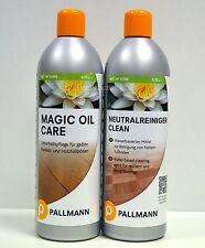 """Kombiangebot Pallmann """"Clean Neutralreiniger & Magic Oil Care"""" jeweils 0,75 l"""