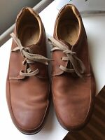 CLARKS Brown CJ7 Soft Tread Lace Up Fastening Leather Shoes Size UK 9 G Comfort