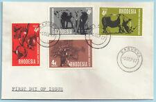Rhodesia 1967 FDC Nature Conservation sg 418-21 SAKUBVA Sep 6
