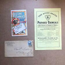 1884 color pamphlet & envelope Williams, Clark & Co Bone Fertilizers Ny
