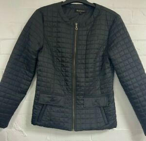 Ladies Black Quilted Jacket size 8 (G4.75)