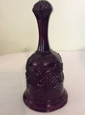 Vintage Avon 1876 Cape Cod Collection Ruby Red Hostess Bell 6 3/4� Tall